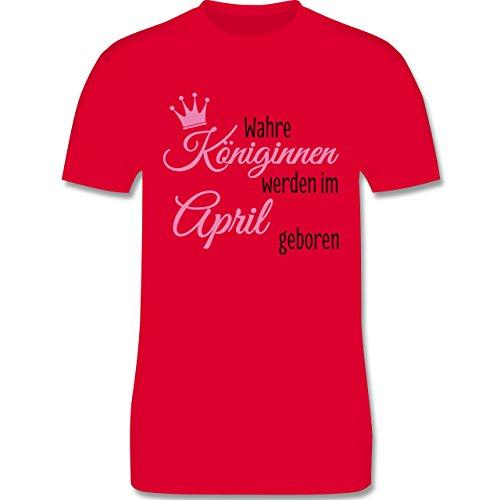Geburtstag - Wahre Königinnen werden im April geboren - Herren Premium T-Shirt Rot