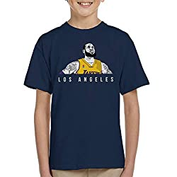Lebron James of The Los Angeles Lakers Kid's T-Shirt