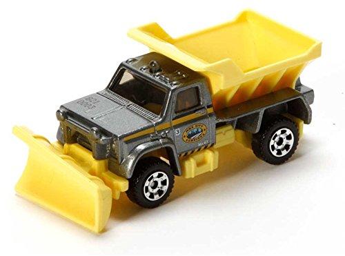 Matchbox MBX S.C.R. 2200 silber-gelb - MBX Construction - Schneepflug Truck - Matchbox Baustelle