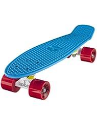 Ridge Retro Cruiser Limited Edition - Skateboard, color blanco / azul / rojo, 55 cm