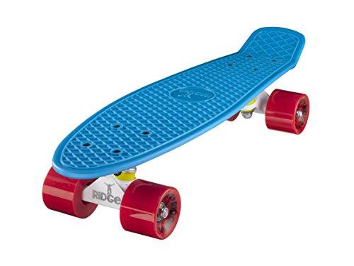 ridge mini cruiser skate skateboard retro 22 completo con carrelli nero o bianco, fatto in l'ue, cuscinetti abec 7, alta qualità formula segreta di plastica