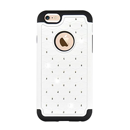 GHC Cases & Covers, Starry Pattern Silikon + Kunststoff Kombinationsetui für iPhone 6 & 6S ( Color : Black ) White