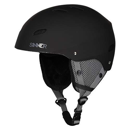 Sinner Skihelm fur ski und Snowboard fur Herren und Damen - Schwarz, Verstellbare Größe (Schwarz, s)