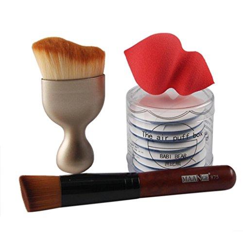 kingko® 10pcs / set pinceau de maquillage / Maquillage éponge / Maquillage de visage Puff Foundation Brush