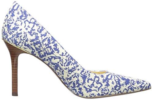 Lauren Ralph Lauren Pump Sarina Blue Block Print Cotton