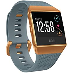 Fitbit Ionic Smartwatch Deportivo, Unisex Adulto, Azul Pizarra/Naranja Fuego