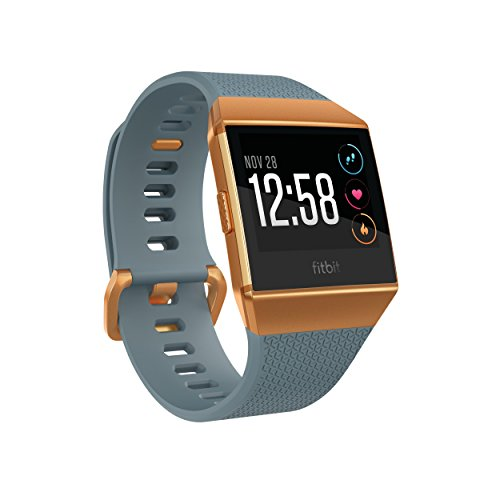 Fitbit Unisex Ionic Smartwatch, Slate Blue/Burnt Orange, One Size