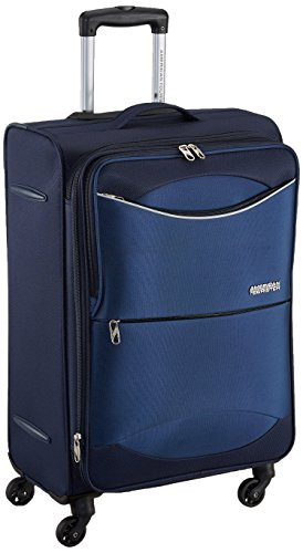 American Tourister Brookfield Polyester 68.5 cms Marine Blue Suitcase (AMT BROOKFIELD SP68 MARINE BLU)