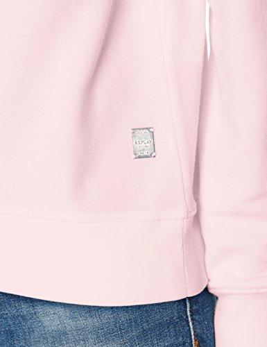 Replay, Sweat-Shirt Femme Rose (Light Pink 709)
