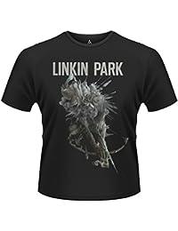 Plastic Head Men's Linkin Park Bow Banded Collar Short Sleeve T-Shirt
