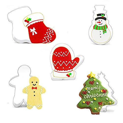 ets Edelstahl-Zuckerguss-Plätzchen-Schneider Weihnachtssocken-Handschuhe Lebkuchen-Mann-Schneemann Usw. ()