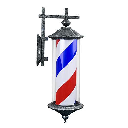 Lichtmast Licht (Barber Shop Lichtmast Haar Schalter Licht Salon Logo Licht Box Retro LED Rom Außenleuchte Barber Shop Wandleuchte Wasserdicht Und Langlebig)