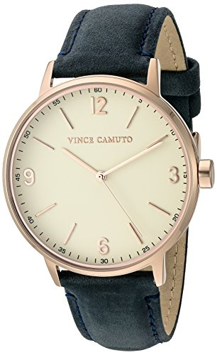 vince-camuto-womens-quartz-watch-with-beige-dial-analogue-display-and-blue-leather-strap-vc-5306rgnv
