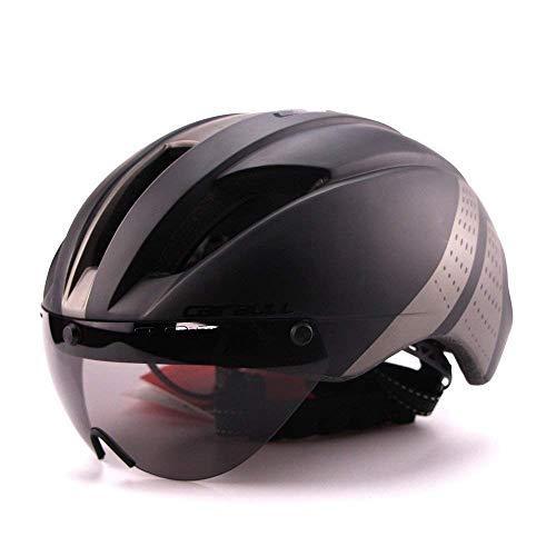 Cairbull Fahrrad Helm 57-61cm Erwachsene Ultralight TT Road Fahrrad Sicherheit Helm mit Abnehmbarem Schild Visier