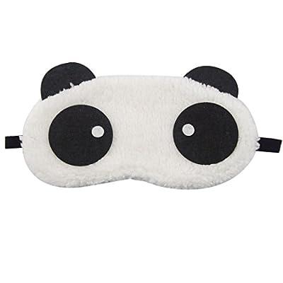 Cosanter Mignon Panda géant Masque de Voyage Simple Peluche Courte Anti Fatigué Masques de Sommeil Ultra-Doux Bandeau de Nuit Idéal pour Insomnie et Voyage