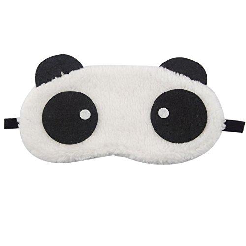 WeiMay - Mascherina da notte, morbidissima, motivo panda, per dormire durante i viaggi o per schiacciare un pisolino