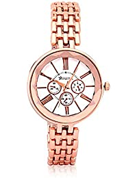 Roman Star 1218 Rose Gold Coloured With Rose Gold Chain Strap Quartz Watch For Women