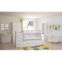 Polini Kids Kinderzimmer Set in Weiß 4 Teilig preisvergleich bei kinderzimmerdekopreise.eu