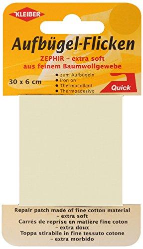 kleiber-30-x-6-cm-ruban-coton-thermocollant-reparation-tres-fin-et-souple-beige