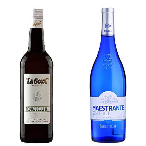 Manzanilla La Goya Y Maestrante Blanco Semidulce - D. O. Manzanilla De Sanlúcar De Barrameda Y Vino Blanco - 2 Botellas De 750 Ml