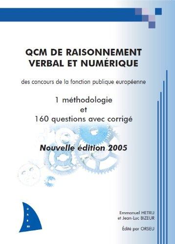 QCM de raisonnement verbal et numrique des concours de la fonction publique europenne