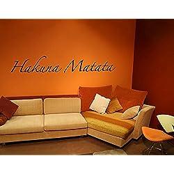 Wandtattoo No.SF363 Hakuna Matata Hakuna Matata Afrika Lebensart Lebenskunst, Farbe:Creme;Größe:60cm x 358cm