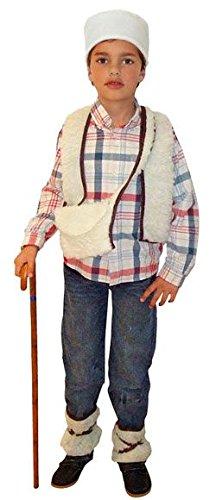 Hirten Kostüm für Jungen - 7-9 Jahre (Jungen Hirten Kostüm)