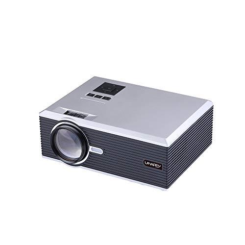 Fulltime E-Gadget Videoprojektor 2500 Lumen mit HDMI USB VGA AV für LED-Projektor Full HD 1080p für Heimkino-Projektor (Weiß)