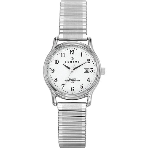 Certus - 641335 - Women's Quartz Analogue Watch - White Dial - Silver Metal Strap