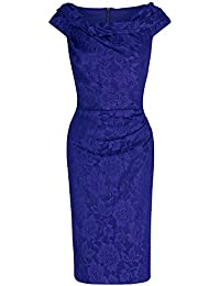 Pretty Kitty Fashion Damen Etui Kleid blau königsblau