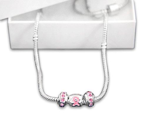 Fundraising For A Cause Sortiert Brustkrebs Bewusstsein Halskette (1Halskette–Retail), Triple Charm