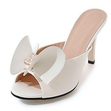 LvYuan Da donna-Sandali-Matrimonio Formale Serata e festa-Club Shoes-A stiletto-Vernice-Nero Rosso Bianco Grigio Pesca White