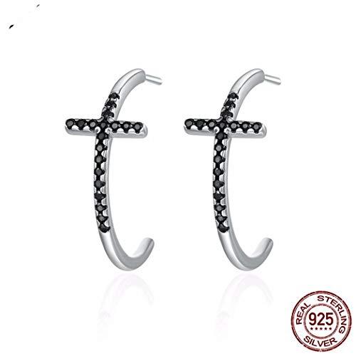 c2780479807b MTWTM Sterling Silver Earrings Traverse Diamond Minimaliste Stud Earrings  Tendance