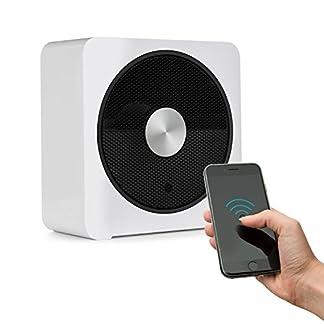 Klarstein HeatPal Bloxx Calefacción eléctrica – Estufa, 2500 W, Control vía App por módulo WiFi, Temporizador, Apagado, Control de Temperatura, Filtro, Blanco