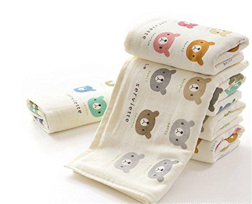 """Affe 2 Asciugamano di cotone Baby Feeding-asciugamani a mano con rondelle, motivo """"Wipe-Panno per pulizia"""