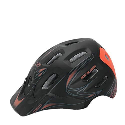 WRGWEHG Fahrradhelm Freizeit/Reithelm / Mountainbike/Integriertes Formteil/Atmungsaktiver Helm Zubehör, Schwarz