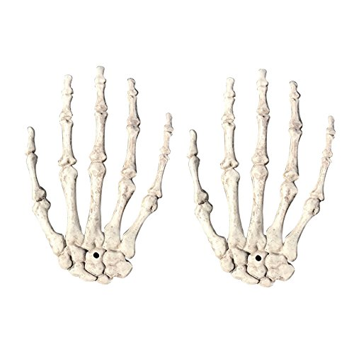 SODIAL Halloween Schaedel Skelett Menschliche Hand Knochen Zombie Party Terror Erwachsene Scary Requisiten