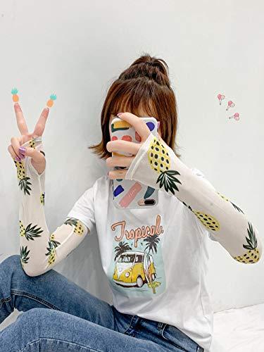 Hermosa niña manga de hielo protector solar mano manguito manga delgado equipo al aire libre pequeña belleza guantes de verano artefacto estilo lindo kawaii ccf-45 @ e