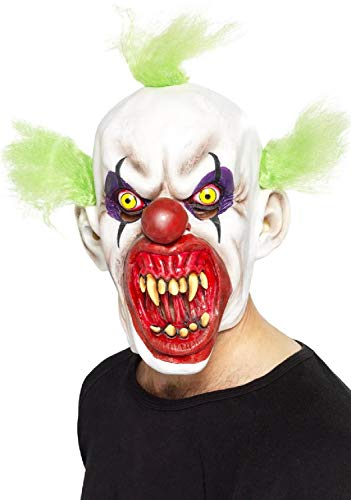 Kostüm Zirkus Sinister - Fancy Me Herren Erwachsene Sinister Horror Gruselige Clown Latex Maske Zirkus Karneval Halloween Kostüm Zubehör
