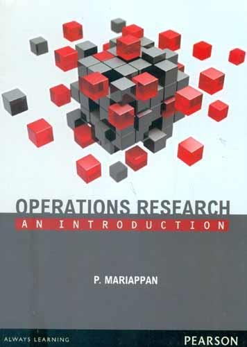 Operations Research por P. Mariappan