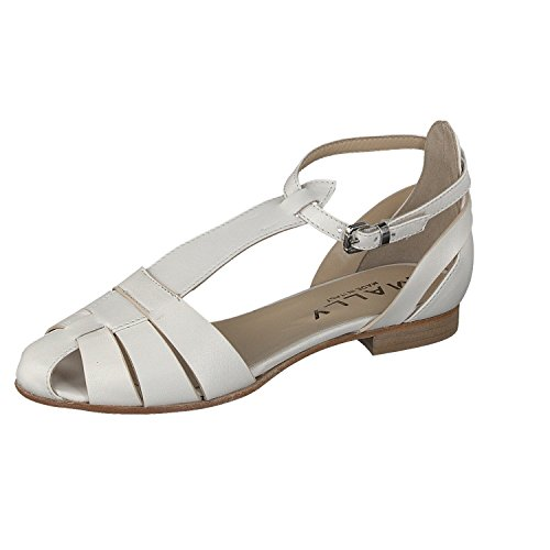 Mally - Scarpe con cinturino alla caviglia Donna , Bianco (bianco), 36 EU