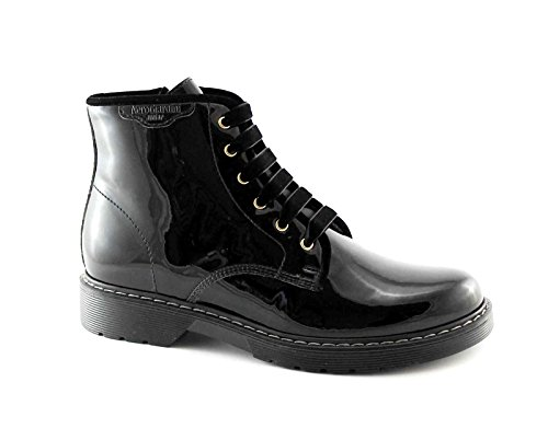 Nero Giardini BLACK JARDINS JUNIOR 31791 noir chaussures fille bottes zip amphibie
