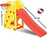 2 in 1 Slider for Kids Home Large Slide & Basket Ball