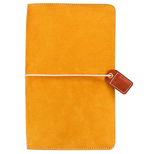 Color Crush Faux Leather Traveler's Planner 5.75'X8'-Mustard Suede