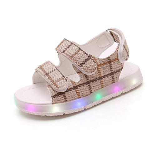 Innerternet Baby Mädchen Peekaboo Laufschuhe Sommer Sandalen LED leuchtende Schuhe Turnschuhe - Junior-baby-puppe Shirt
