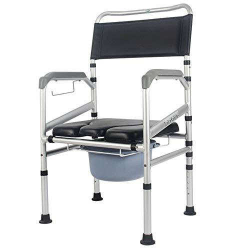 SXRL Wc Toilettenstuhl Nachtstuhl Höhenverstellbar, Stuhl Abnehmbarer Eimer Und Sitzplätze Für Ältere Menschen