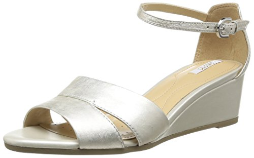 Geox  D Lupe C,  Sandali donna Bianco Blanc (Off White) 37