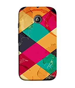 PrintVisa Designer Back Case Cover for Moto E2 (multi colored tiles makes pattern)