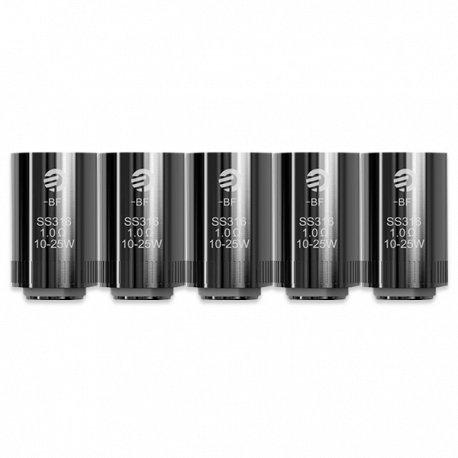 JOYETECH 0,5 Ohm Widerstand Edelstahl Cubis Bf Verdampferköpfe – Packung mit 5 Stück (Ohne Nikotin und Tabak frei)