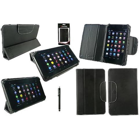 Emartbuy® Nero Stilo + Nero Universale Trio-Fold Ultra Sottile Wallet Portafoglio Custodia Case Cover adatto per ibowin J740 7 Pollice Android Tablet